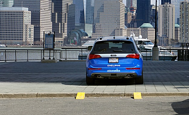 This Audi SQ5 made it across America from San Francisco to New York, 99 percent under electronic command. (Delphi photo)