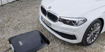 Wireless charging station for an electric BMW