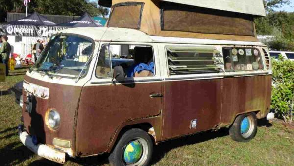 Rusty VW camper