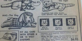 JC Whitney winking animals advertisement